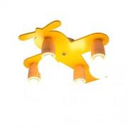 Plafonnier de bande dessinée LED Bois Plafond Métal Lampes Creative Élégant Belle Plafond Éclairage Décoratif Confortable Fille Chambre Princesse Chambre Plafond Spotlight E27X4