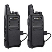 Retevis RT22 Mini Talkie-walkie double sens radio portable ultrafin et ultraléger 16 canaux UHF VOX Scan chargeur USB