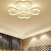 Romantique Salle De Mariage Coeur Forme Plafond Salle à Manger Salon Chambre Étude Métal Acrylique LED Plafond D'éclairage Télécommande Lampe 40cm * 10cm (Dimmable Stepless 3000K-6000K)