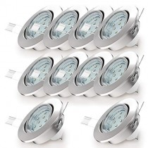 Spot LED encastrable/spot encastrable lampe//GU10/3W/250lumen/Nickel mat