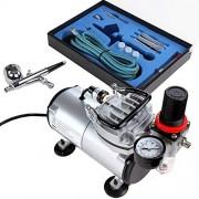 TIMBERTECH ABPST05 Kit Comprenant 1aérographe Double Action et 1compresseur