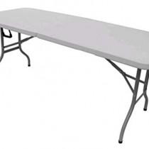 Table pliante Blanc Cassé 43421 Provence Outillage 180 x 75 x 74 cm
