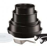 Tefal L6549702 Set de poêles et casseroles – Ingenio 5 Performance Noir 10 Pièces – Tous feux dont induction