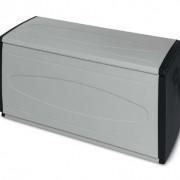 Terry Coffre de rangement 120en résine (L)120x (P) 54x (H) 57 cm, gris/noir