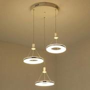 Trois Cercles Pendaison Lampe Moderne Élégant Simple Pendentif Lumière Cuisine Restaurant Bar Café Salon LED Éclairage Acrylique Creative Personnalité Plafonniers Ø20cm * 3 (Lumière Chaude)