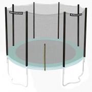 Ultrasport Filet de Sécurité pour Trampoline de Jardin Jumper Wave en Vert, 251-430 cm