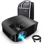 VANKYO Leisure 510 Vidéoprojecteur Rétroprojecteur 3600 Lumens LED Projecteur Soutien HD 1080p ,200 » Affichage, HDMI, AV, VGA et USB Noir