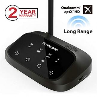 [Version Premium] Avantree Oasis Plus aptX HD Longue PORTEE Transmetteur Récepteur Bluetooth Audio pour TV, HiFi, Optique Filaire & sans-Fil Simultanée, Dual Link Low Latency [Garantie 2ANS]