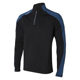 Wilson Golf Homme Pull  Performance, THERMAL TECH, Polyester/Spandex, Noir/Bleu