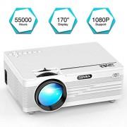 YABER Vidéoprojecteur 2600 Lumens Mini Projecteur Portable Soutien 1080P/VGA/HDMI / USB/SD / AV, 55000 Heures Home Cinéma Projecteur LED, Compatible iPhone, Android, TV Box, Laptop, PS4,TV Box