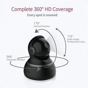 YI Caméra dôme 1080p HD Pan/Tilt/Zoom Système de Surveillance de sécurité IP sans Fil Vision de Nuit Service de Cloud Disponibles