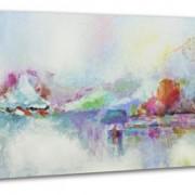 YS-Art Tableau Peinture Acrylique Instant| Peint à la main | 115x50cm | Tableau | Art Moderne|Unique| Gris