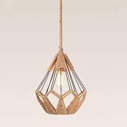 américain Campagne Description Retro corde de chanvre lustre de café Restaurant bar lustre de salon Aisle créatif fer lustre de A+