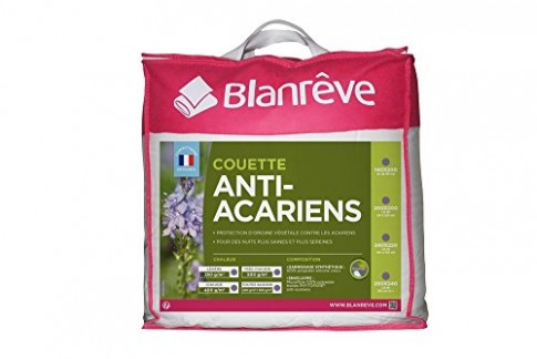 blanrêve CTPHYVD021420 Couette Anti-Acariens Très Chaude Polyester Blanc