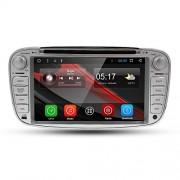 en Dash GPS lecteur de DVD pour Ford Mondeo S-Max Focus Galaxy C-Max Hizpo® Android 7.1 Autoradio stéréo double DIN 17,8 cm écran tactile support Miroir Link 4 G Wifi USB SD Cam-in OBD2 DAB +