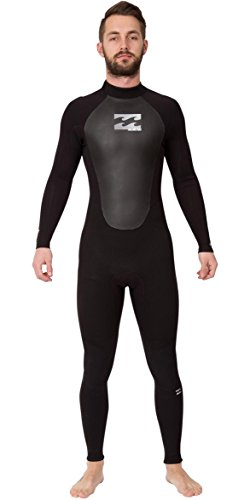 2017 Billabong Intruder 4/3mm GBS Back Zip Wetsuit BLACK O44M15