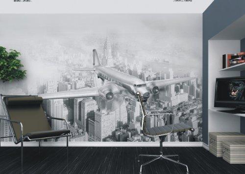 AG fTxxl 0123 Photo intissé Motif Palmiers photomurals Mural-Vue sur la Ville de l'air