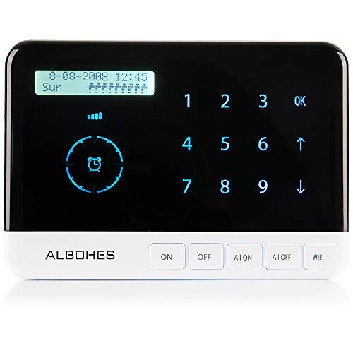 ALBOHES programmateur arrosage wifi automatique contrôleur intelligent de gicleur jardin pelouse, de valve et gicleurs, connexion de WIFI avec 9 zones, à distance de temps