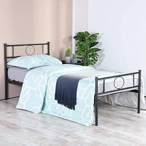Aingoo Lit Simple en Métal Design 1 Place Cadre de Structure Métallique Comfort
