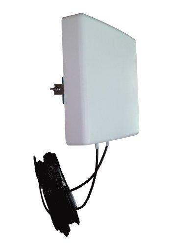 Antenne 4G LTE MIMO Directionnelle 700/800/900/1800/2100/2600 Mhz LowcostMobile noir Connectique SMA Câble LMR200 pour Huawei B593, E5180, E5186, B310, B315, B525, Asus, TP LINK, Dlink et plus