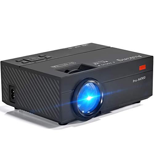 AuKing Mini Projecteur 2500 Lumens Vidéoprojecteur Portable Retroprojecteur, 55000 Heures Multimédia Home Cinéma Projecteur, Compatible avec Amazon Fire TV Stick, HDMI, VGA, USB, AV