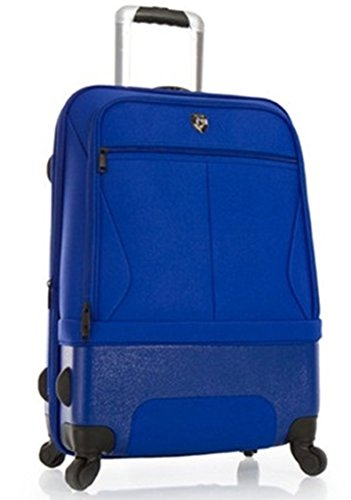 Bagages, Valises, Bagages Cabine et Enfant par Heys – Première Classe Hybride Valise – Heys Hybride Spinner Air-Lite II Blu Trolley avec 4 Roues Grand