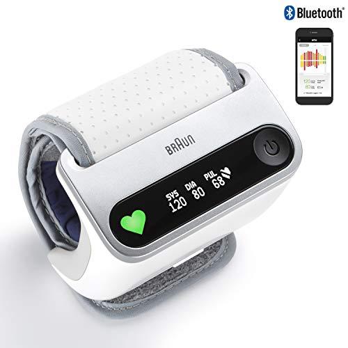 Braun BPW4500WE Icheck 7 Tensiomètre au poignet pour suivi intelligent et rapide de la santé cardiovasculaire