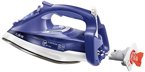 Calor FV9625C0 Fer à Repasser Vapeur Ultimate Anti-Calc Effet Pressing jusqu'à 200g/min Semelle Auto-nettoyante Collecteur de Calcaire 2600W Bleu Océan