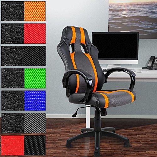 Chaise de bureau en PU – Siège Fauteuil rembourrage épais hauteur réglable