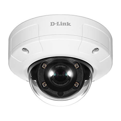 D-Link Caméra IP Dome PoE Full HD extérieure anti vandale – Capteur CMOS progressif 2 Megapixel – H.264/MJPEG — Surveillance extérieure et intérieure Jour & nuit (DCS-4602EV)