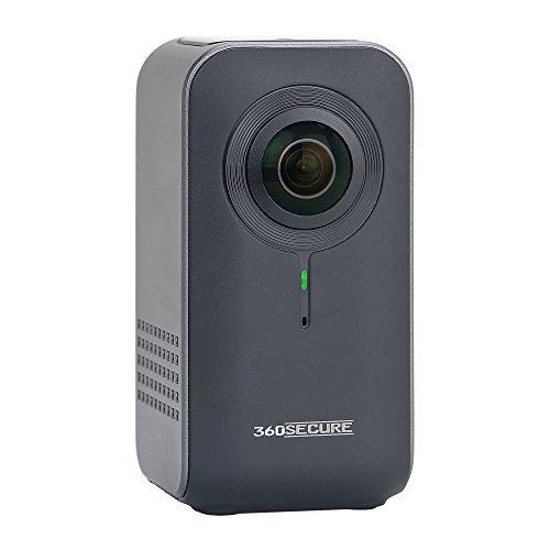 'DNT 360secure 360degrés caméra de Surveillance pour la Maison Gris Anthracite