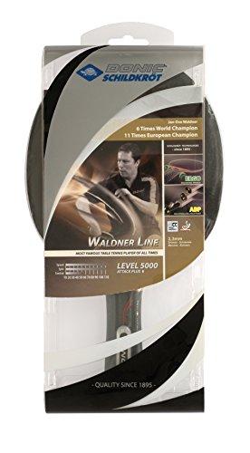 Donic Schildkröt Raquette de tennis de table WALDNER 5000 Carbon (intègre les technologies ABP & manche ERGO), 751805
