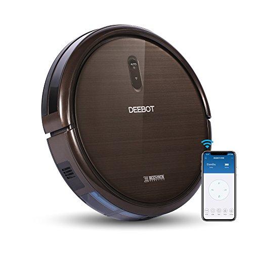 ECOVACS Robotics DEEBOT N79S – Robot nettoyeur de sol avec une puissance d'aspiration maximale, commande par smartphone, chargement automatique, pour sols durs et tapis et moquettes minces