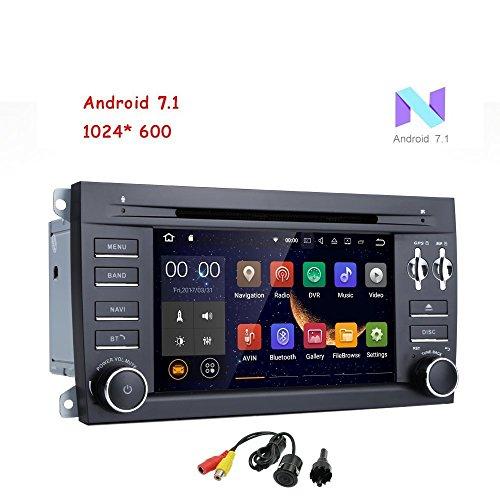 Freeauto pour Porsche Cayenne 17.8 cm 2 DIN Android 7.1 Quad Core Voiture Stéréo 1024 Pantalla táctil HD Autoradio Récepteur DVD Navigation GPS Gratuite avec caméra arrière