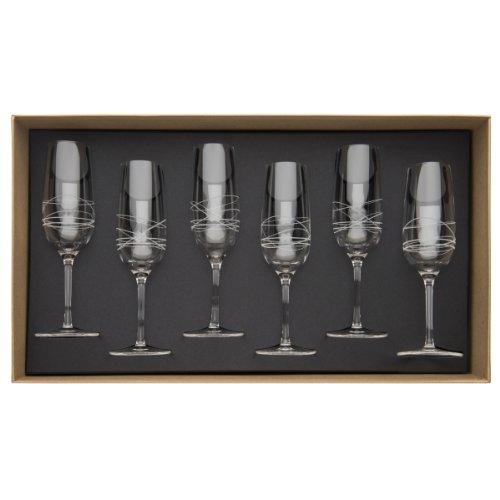 Guy Degrenne – 206394 – Coffret de 6 – Flutes à Champagne 20 cl
