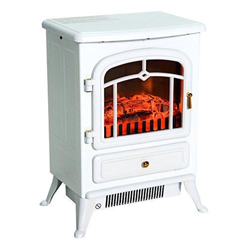 Homcom Cheminée électrique poêle Style rétro Thermostat 950-1850 W
