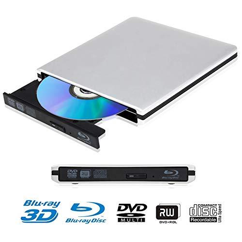 Lecteur DVD Blu Ray 4K 3D Externe Portable Ultra Slim USB 3.0 Graveur de DVD CD-RW pour Mac OS, Linux, PC Windows XP/Vista / 7/8/10