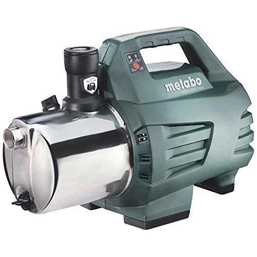 Metabo HWA 6000 Surpresseur en Inox/Pompe d'Arrosage/Groupe de Surpression 600 pour Jardin, Vert