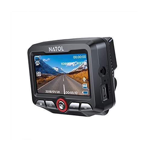 NATOL Caméra de Voiture Embarquée Full HD 1080P avec Net Vision Nocturne, Mini Dashcam avec 170º Grand Angle, Enregistrement en Boucle, Capteur-G, Moniteur de Stationnement et Détection de Mouvement