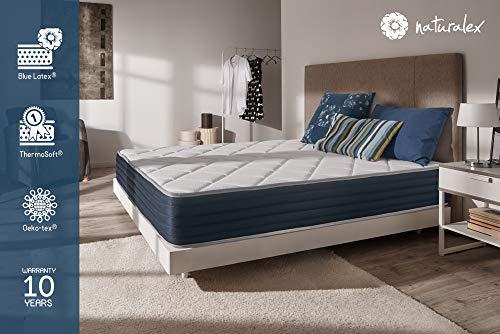 NATURALEX Matelas Supervisco – Mousse adaptative Blue Latex – Mémoire de Forme – 7 Zones de Confort – 25 cm –