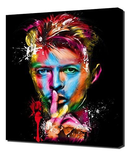 Pingoo Impressions de David Bowie 11–Art Moderne–Tableau Mural Impression sur Toile, Toile, 60x 90x 5cm