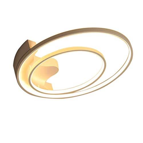 Plafonnier LED moderne à intensité variable avec télécommande, design rond, design créatif, sobre, salon, décoration plafond, 2700 lumens, Ø 51 cm, luminosité réglable
