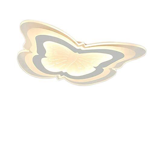 Plafonnier LED moderne 21 W avec télécommande Interrupteur mural, lampe murale Blanc Mode créatif Salon Chambre Lampe Papillon Éclairage Intérieur Blanc Chaud 35 x 29 cm Moderne F