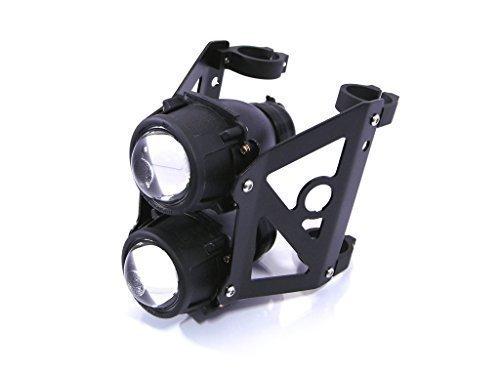 Streetfighter Moto Double Bandé Projecteur Phare avant Set Emarked pour 52/53mm Fourche