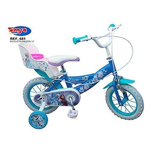Toimsa – 010681 – Vélo Pour Fille De 3 À 5 Ans – Licence Frozen – La Reine Des Neiges – Bleu Et Blanc – Modèle aléatoire