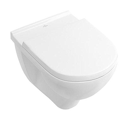 &Villeroy Boch O. Novo 9M396101 Abattant WC avec charnières en acier inoxydable Blanc
