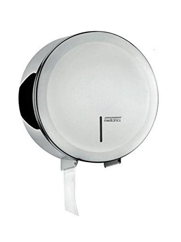 mediclinics pr2787C–Porte-papier toilette gros rouleau en acier inoxydable brillant Support rouleaux Jumbo Grand pour un rôle Grande, avec fenêtre